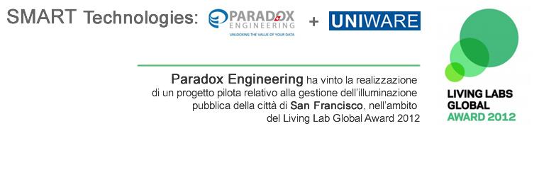 SMART TECH: Uniware sceglie Paradox Engineering